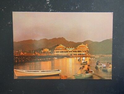Vintage Postcard - Shatin Floating Restaurant, New Territories
