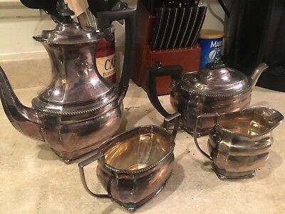 Vintage Silver Plated EPNS Coffee/tea Set Sheffield Made In England