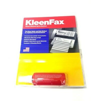 Audio Source Kleen Fax Clean Maintain 6 Cleaning Sheets Cleaning Fluid Sanitize
