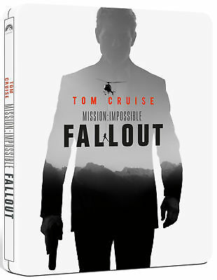Mission: Impossible – Fallout (STEELBOOK) (Blu-ray + Bonus) (Region Free) (NEW)