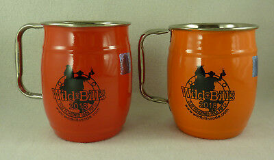 2 Wild Bills Old Fashioned Soda 2018 Stainless Enameled Beer Mugs Steins 32oz