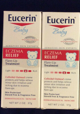 2 PACK Eucerin Baby Eczema Relief Cream Colloidal Oatmeal Fragrance Free 12/2019