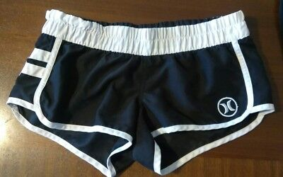 Women's Shorts, Size Extra Small Black and White Hurley Shorts EUC