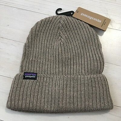 Patagonia Fisherman's Beanie Rolled Ash Tan Hat NWT One Size Recycled Polyester