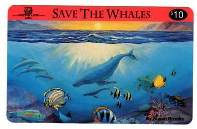10- Save The Whales $10.00 Phone Cards. Phone Line USA. Expired Cards