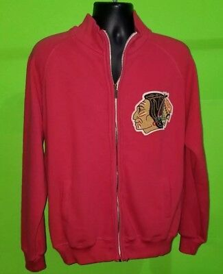 Stan Mikita Chicago Blackhawks Full-Zip Sweatshirt by Red-Jacket - sz M