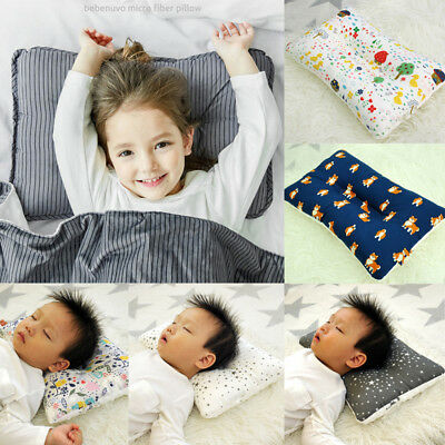 Soft Newborn Baby Infant Pillow Positioner Prevent Flat Head Anti Roll 2 Size