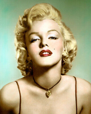 """MARILYN MONROE HOLLYWOOD LEGEND & MOVIE STAR 8x10"""" HAND COLOR TINTED PHOTOGRAPH"""