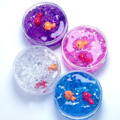 Charm Fishbowl bead Sequin & confetti Colour Goldfish Slime Great Gift Toys Fun