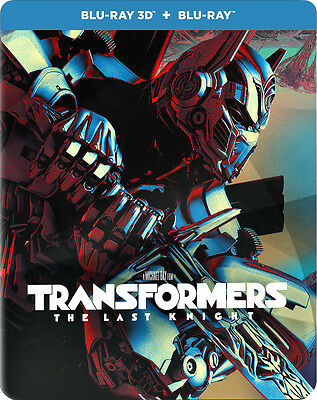 Transformers: The Last Knight (Blu-ray 3D + Blu-ray) (STEELBOOK) (ALL) (NEW)