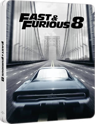 The Fate of the Furious (STEELBOOK)(Fast & Furious 8)(Region Free)(Blu-ray)(New)