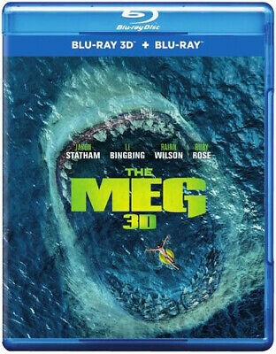 The Meg (Blu-ray 3D + Blu-ray) (Two Disc Edition) (Region Free) (2018) (NEW)