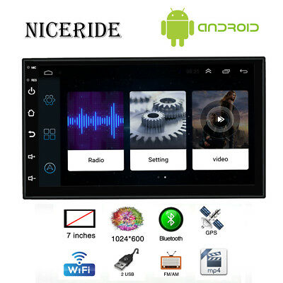 """7"""" 2 DIN Touch Screen In-Dash Car Multimedia Player BT Stereo FM Radio USB"""