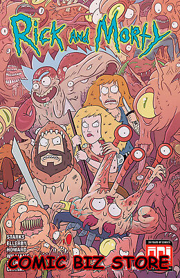 Rick And Morty #45 (2019) Ellervy & Stern Cover A Ibagged & Boarded Dw