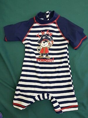baby boys size 00 baby berry rashie swim suit - new nwot