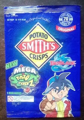 Collectable 'BeyBlade' EMPTY CHIP PACKET - SMITHS Potato Chips - Original