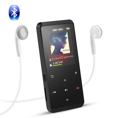AGPTEK 8GB Bluetooth MP3 Player Lossless with FM/Voice Recording Loudspeaker