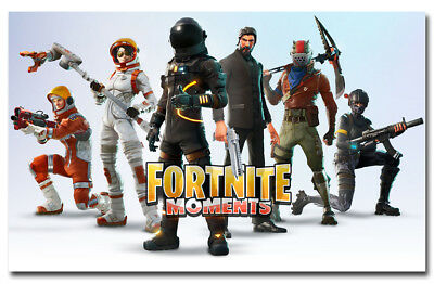 Fortnite Moments Game Poster 17x27 24x38inch Wallpaper high quality paper print