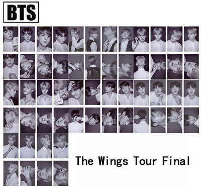 8pcs /set Kpop BTS The Wings Tour Final Cards JIMIN J-HOPE Self-made Photocard