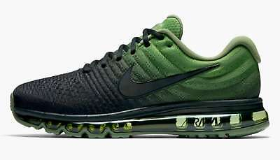 1f6d2f7ef3 NIKE AIR MAX 2017 Mens Athletic Shoes Black/Black-Palm Green 8 US ...