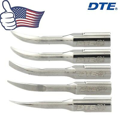 Woodpecker DTE Dental Ultrasonic Scaler Scaling Tips Kit PD1 GD1 GD2 GD4 Satelec