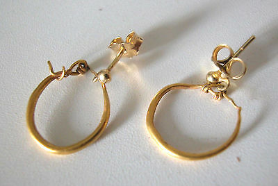 A Fine Pair Of 22K Ancient Roman Earrings With 14K Gold Modern Closers