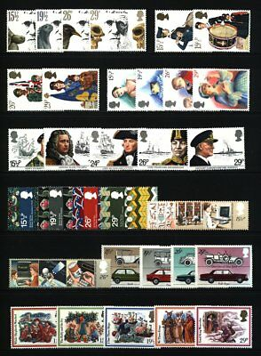 Gb Qeii Year 1982 Complete For Commemorative Sets, U/Mint, At Face
