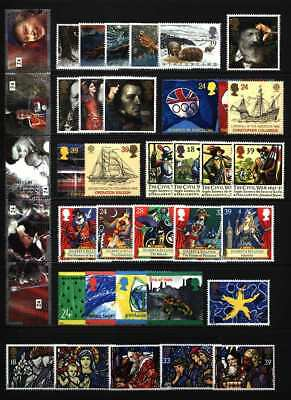 Gb Qeii Year 1992 Complete For Commemorative Sets, U/Mint, At Face