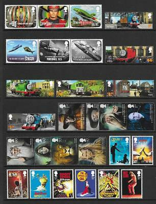 Gb Qeii Year 2011 Complete For Commemorative Sets, U/Mint, At Face