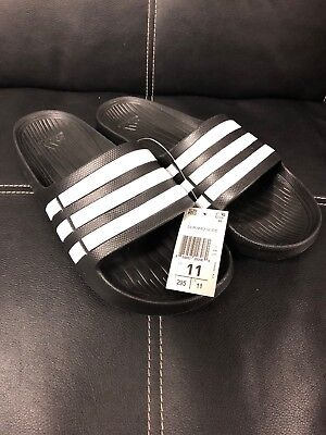 Licuar eficientemente Determinar con precisión  NWT ADIDAS DURAMO G15890 BLACK WHITE SLIDES SANDALS FLIP FLOPS SHOWER SPORT