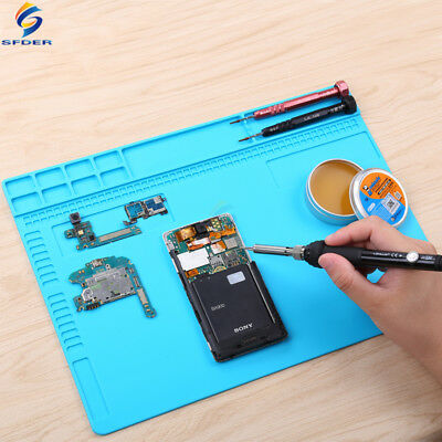 Heat Resistant Work Pad Mat Multi-function Soldering Station Insulated Silicone