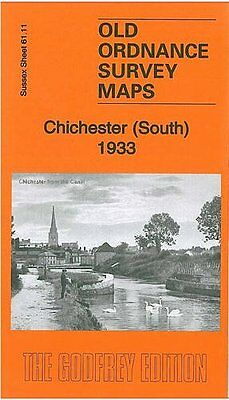 Old Ordnance Survey Map Chichester (South) 1933