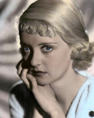 "BETTE DAVIS HOLLYWOOD ACTRESS & MOVIE STAR 8x10"" HAND COLOR TINTED PHOTOGRAPH"