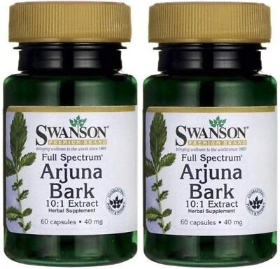 2X Arjuna Bark (10:1) 40 mg x 60 (120) Capsules Full Spectrum - 24HR DISPATCH