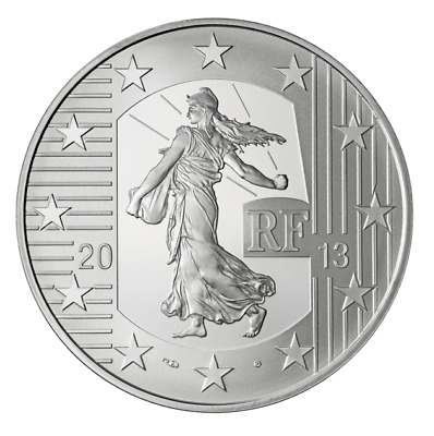 10 Euro argent France La Semeuse 2013 BE