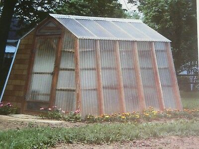 How to Build a Small Storage Shed Greenhouse Plans Instructions 10 Ft x 8 Ft
