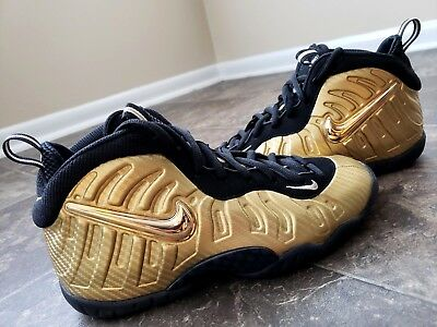 daef2c176c5 Nike Little Posite GS Foamposite Metallic Gold Carbon Fiber 644792-701 Sz  5.5Y