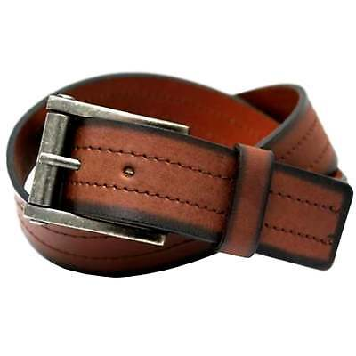 """SOPHOS 35MM CHAMFORD EDGE BLACK LEATHER BELT WITH NICKLE BUCKLE,WAIST 32-56/"""""""