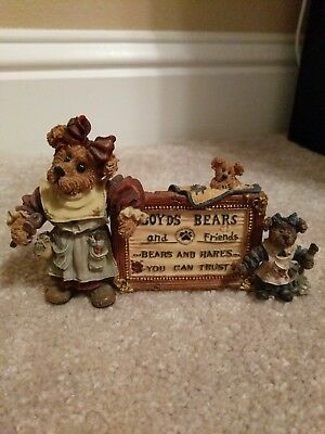 """Boyds Bears and Friends """"Tessa, Ben & Cissie...Assign of the Times"""" Style #2299"""