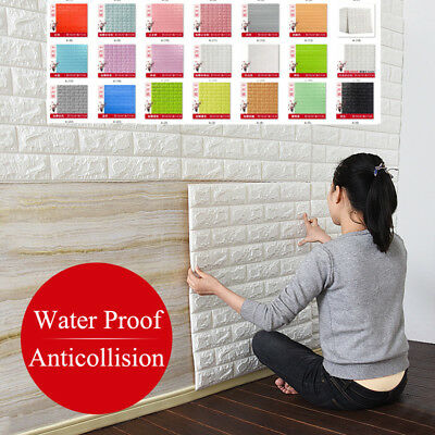 3D Brick water proof Foam Wall Sticker Stone Embossed Wall Paper DIY Home Decor