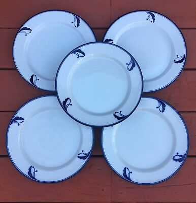 Dansk Flora BAYBERRY Set of 5 Dinner Plates - Portugal and Japan