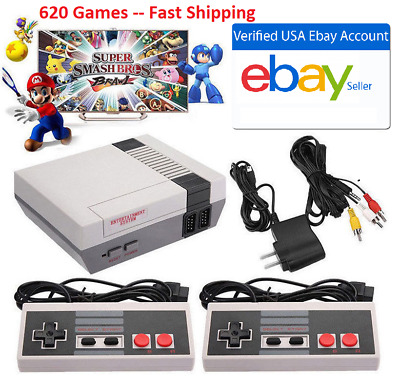 Retro TV Game Console Classic 620 Built-in Games 2 Gamepad Kid Gift