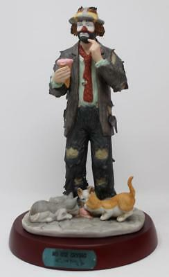 Flambro Emmett Kelly Jr. Porcelain Clown No Use Crying Limited Edition #4336