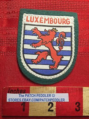 BENELUX NATION - Country Of LUXEMBOURG Souvenir Patch HERALDRY LION 63K