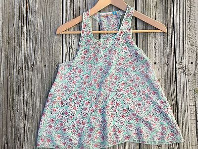Vintage Havana ~ Green, white, pink ~ Blouse ~ Peasant ~ Small ~ Floral