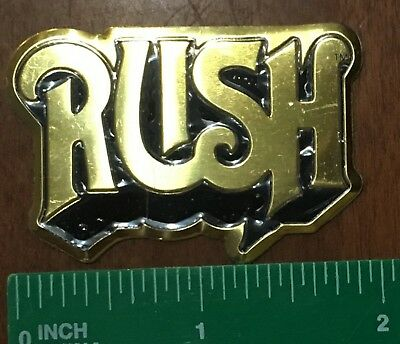 RUSH Logo Two Inch Metal Metallic Sticker Officially Licensed USA