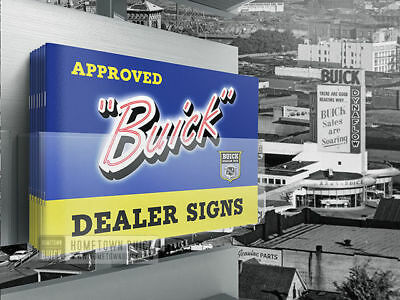 1950s Buick Dealer Signs Brochure / Dealership Neon and Enamel Signs Catalog