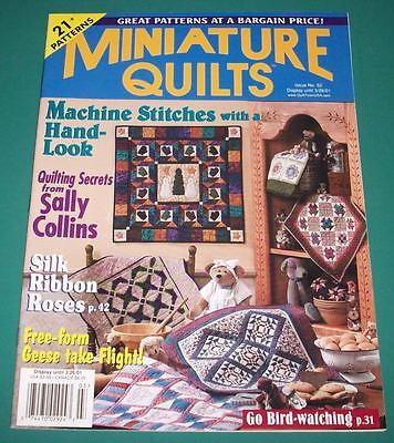 Miniature Quilts Magazine Issue 52, (Vol 10 Issue 6) March 2001