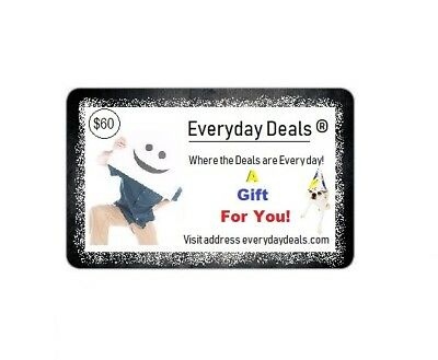 $60 Everyday Deals ®  Virtual Gift Card Only $50 - SAVE $10 Great Online Gifts !