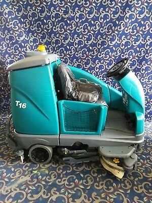 """Tennant T16 40"""" ride on floor sweeper scrubber with FREE shipping"""